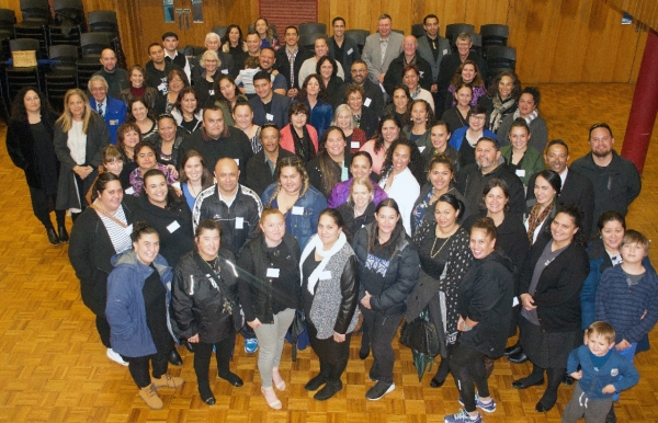 Huarahi Māori programme alumni, staff and their whānau gathered for the celebration of the programme's 21st anniversary in 2017.